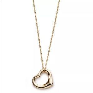 Elsa Peretti 18K Gold Open Heart Necklace
